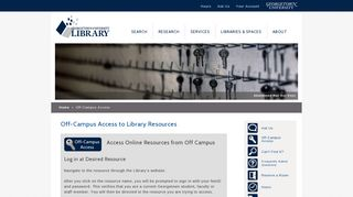 Off-Campus Access to Library Resources | Georgetown University ...