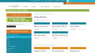 Library Services – Georgetown Public Library