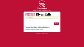 GET - Login - University of Wisconsin - River Falls - Cbord