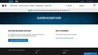 Customer Login   Blizzard Gear Store
