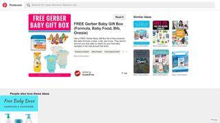 FREE Gerber Baby Gift Box (Formula, Baby Food, Bib, Onesie)   Free ...