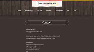 German Food Box | Contact