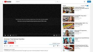 American Tries German Food Box - YouTube
