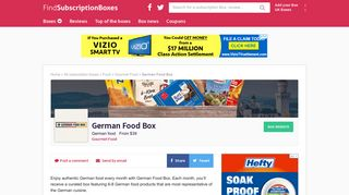 German Food Box | Find Subscription Boxes