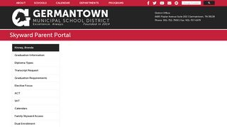 Skyward Parent Portal - Germantown Municipal School District