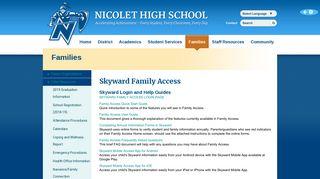 Nicolet High School - Skyward Family Access