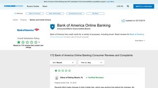 Top 171 Reviews and Complaints about Bank of America Online ...