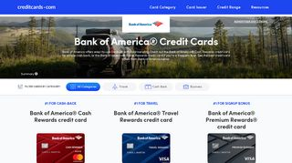 Bank of America Credit Cards - Online Offers - CreditCards.com