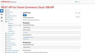 REST API for Oracle Commerce Cloud 18B-MP - getPrice