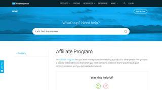 Affiliate Program - GetResponse