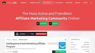 GetResponse Email Marketing Affiliate Program | Affiliate ...