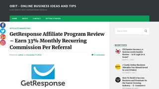 GetResponse Affiliate Program Review - Earn 33% Monthly Recurring ...