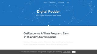 GetResponse Affiliate Program: Earn $135 or 33% Commissions (2019)