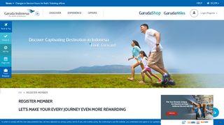 Register Member GarudaMiles - Garuda Indonesia