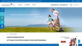 Update Member GarudaMiles - Garuda Indonesia