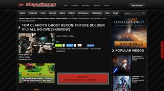 Game Fix / Crack: Tom Clancy's Ghost Recon: Future Soldier v1.3 All ...