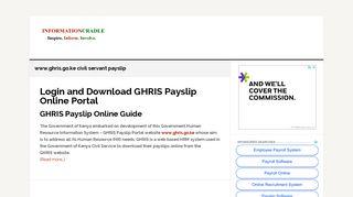www.ghris.go.ke civil servant payslip Archives - InformationCradle