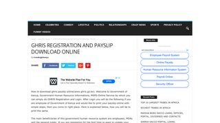 GHRIS REGISTRATION AND PAYSLIP DOWNLOAD ONLINE ...
