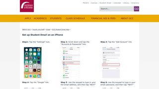 Student Email on iPhone | Glendale Community College