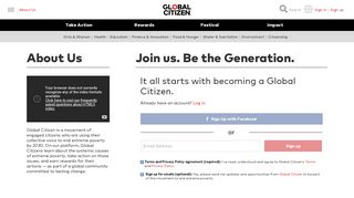 Sign Up for Global Citizen here.