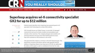 Superloop acquires wi-fi connectivity specialist GX2 for up to $12 ...