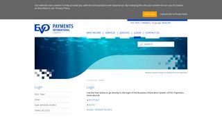 Login - EVO Payments