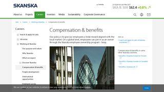 Compensation, benefits & Seop employee ownership ... - Skanska