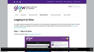 Logging in to Glow – Glow Connect