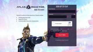 Atlas Reactor | Sign Up