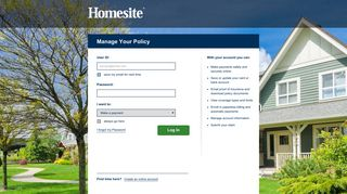 Manage Your Policy - Homesite Insurance
