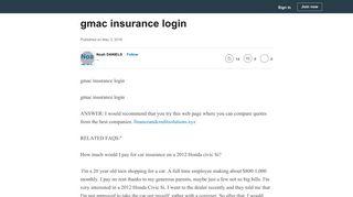 gmac insurance login - LinkedIn