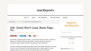 iOS: Gmail Won't Load, Blank Page, Fix - macReports