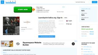 Visit Launchpoint.hallco.org - Sign In.