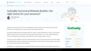 GoDaddy Website Builder Review 2019: Is it any good?