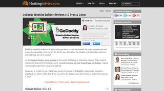 GoDaddy Website Builder Reviews (10 Pros & Cons) - HostingAdvice ...