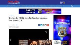GoNoodle PLUS free for teachers across Northwest LA