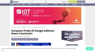 European Probe Of Google AdSense Nears Conclusion | Silicon UK ...