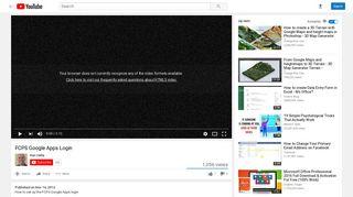 FCPS Google Apps Login - YouTube
