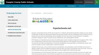 Google Apps for Education - Fauquier County Public Schools