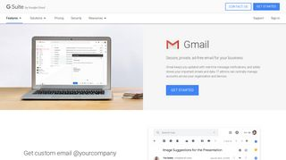 Gmail: Secure Enterprise Email for Business | G Suite - Google