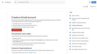 Create a Gmail account - Gmail Help - Google Support