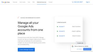 Ads Management Dashboard With Manager Accounts - Google Ads