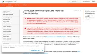 ClientLogin in the Google Data Protocol Client Libraries | Google ...