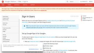 Sign In Users | Google+ Platform for Web (Sign-In) | Google ...