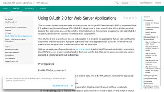 Using OAuth 2.0 for Web Server Applications | API Client Library for ...