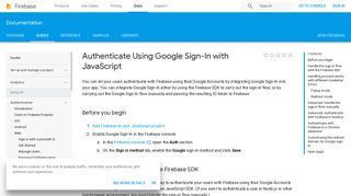 Authenticate Using Google Sign-In with JavaScript | Firebase