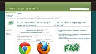 YRDSB Google Apps Help - Google Sites