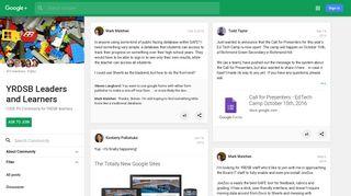 YRDSB Leaders and Learners - Google+ - Google Plus