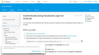 Authenticate Using Facebook Login on Android - Firebase - Google