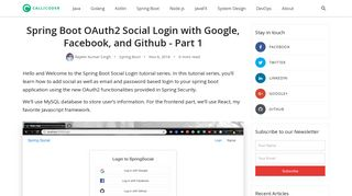 Spring Boot OAuth2 Social Login with Google, Facebook, and Github ...